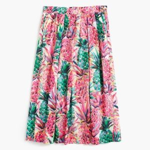 J. Crew A Line Skirt in Ratti Painted Pineapple